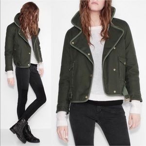 Zadig & Voltaire Kawa Parka Olive Military Jacket